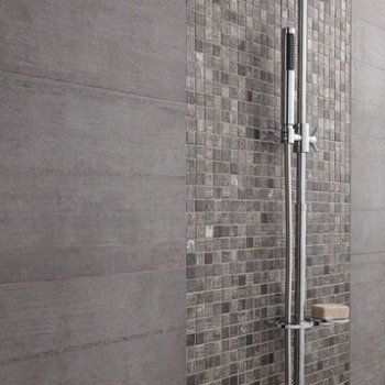 Mosaïque mur Silverstone gris argent | Leroy Merlin | Carrelage De ...