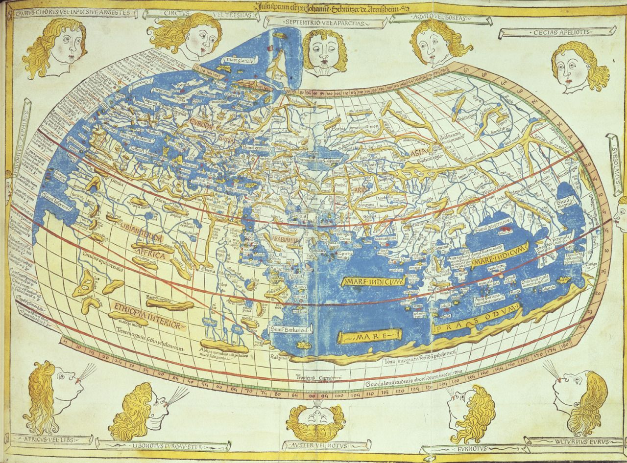 Mapsontheweba version of ptolemys world map produced in 1482 mapsontheweba version of ptolemys world map produced in 1482 using the information contained gumiabroncs Images