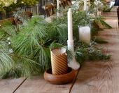 Photo of DIY Network Blog: Made + Remade  Setting up a wedding centerpiece using candles …
