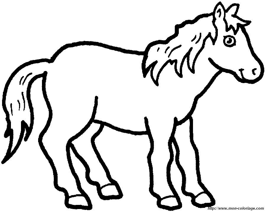 Malvorlagen Pferd Bild Ausdrucken | ausmalbilder | Pinterest