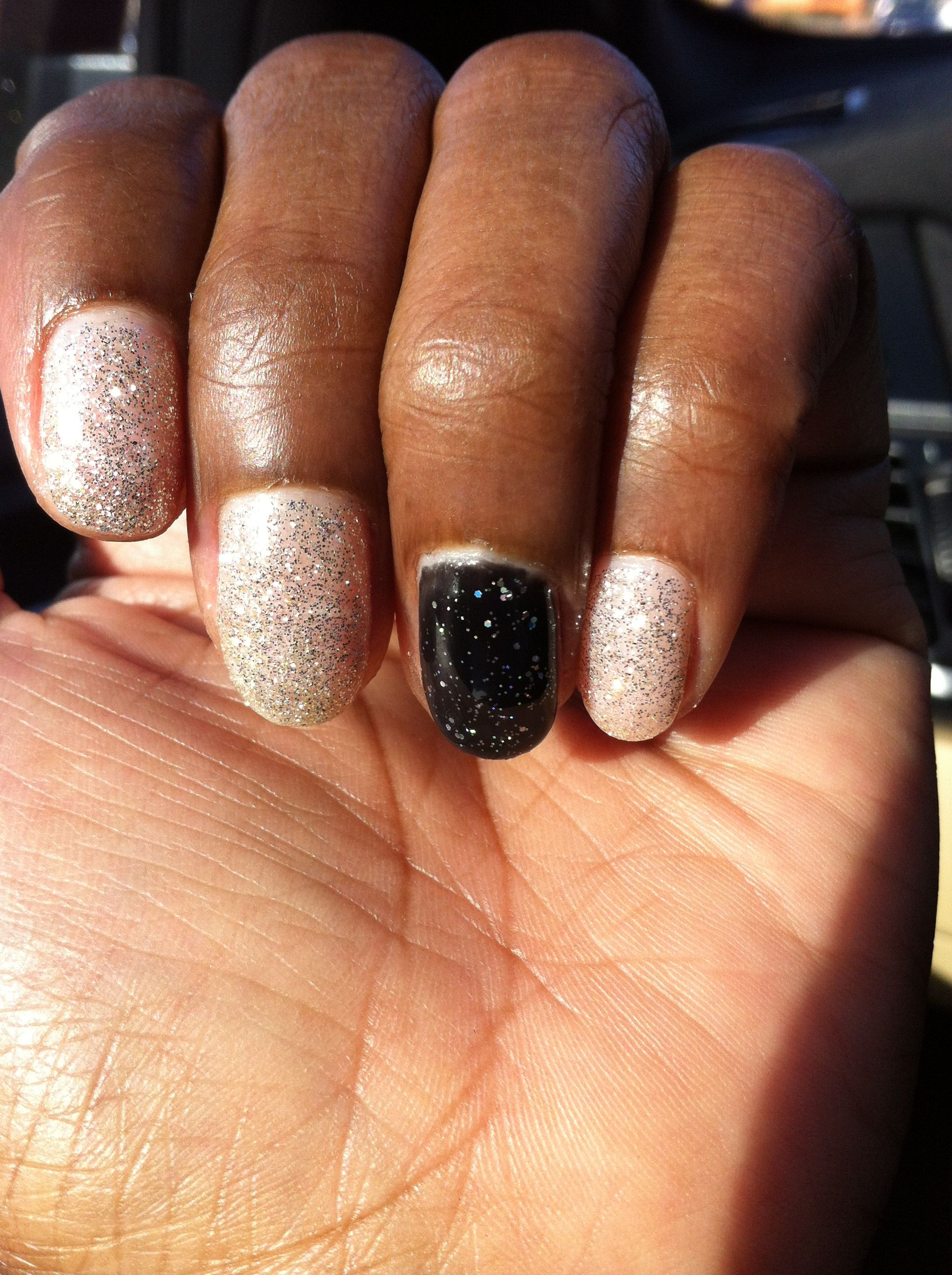 New Year party gel nails color | Nails | Pinterest