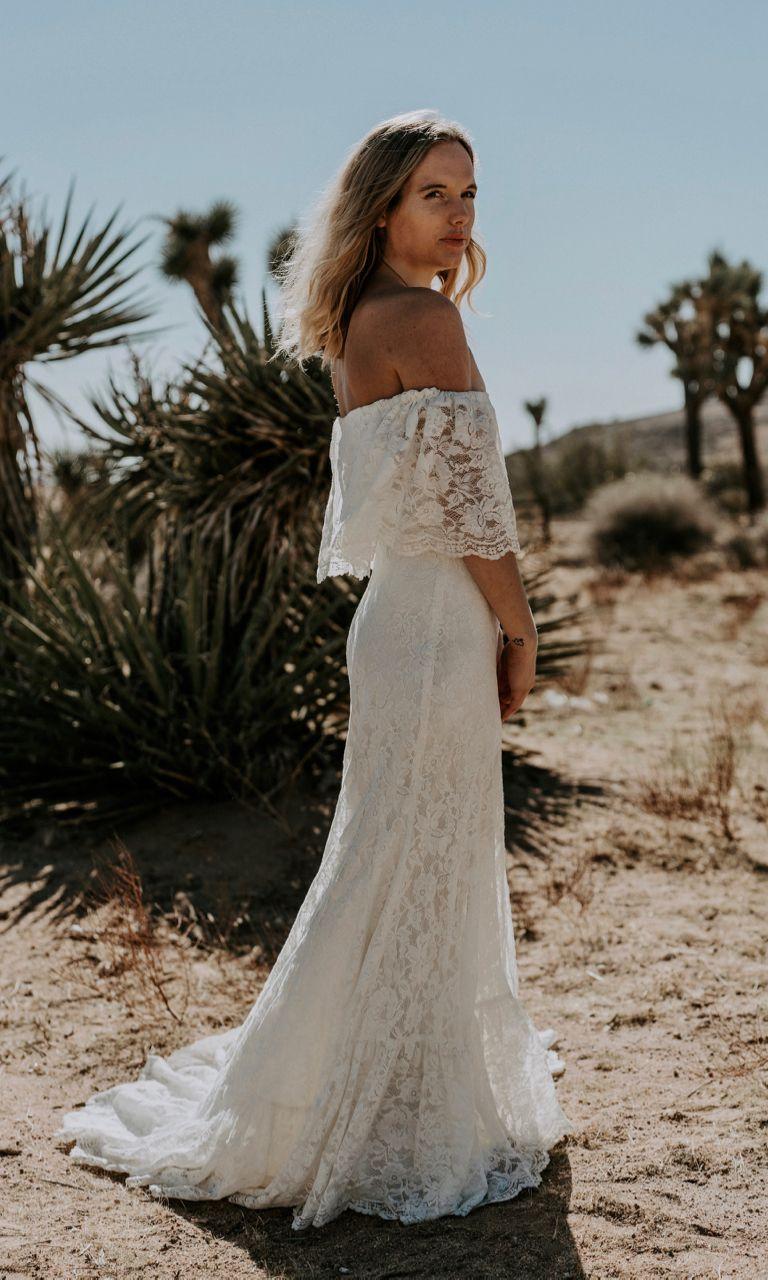 Off the shoulder bohemian wedding dress  Winnie  Boho wedding dresses u hair  Pinterest  Hippy wedding
