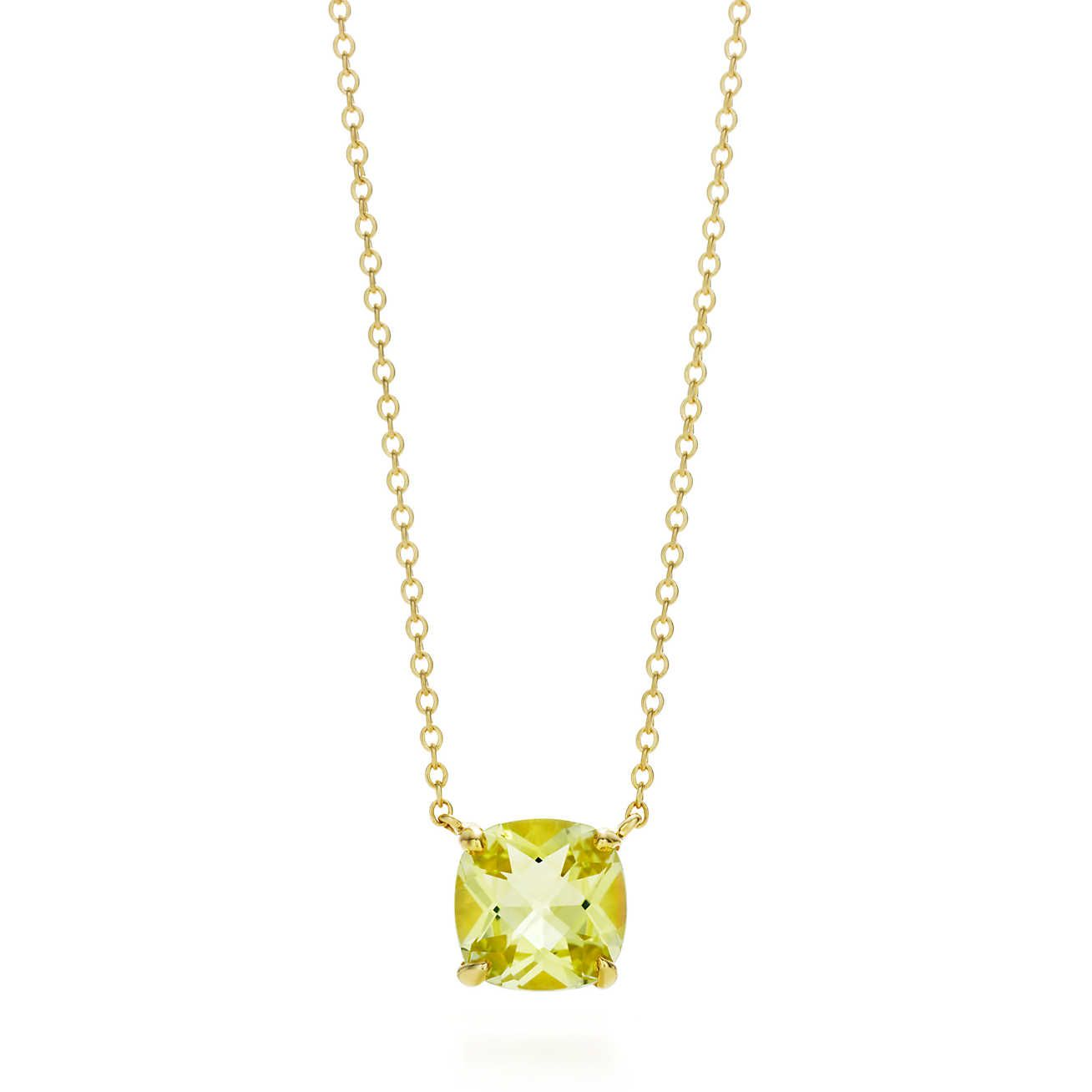 Tiffany Sparklers Yellow Citrine Pendant In 2019 Citrine