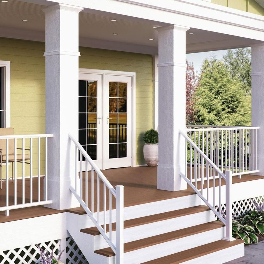 Deckorators Assembled 5 71 Ft X 2 91 Ft Pre Assembled Textured   Pre Assembled Stair Railing   Deckorators   Balusters   Pressure Treated   Stainless Steel   Wood