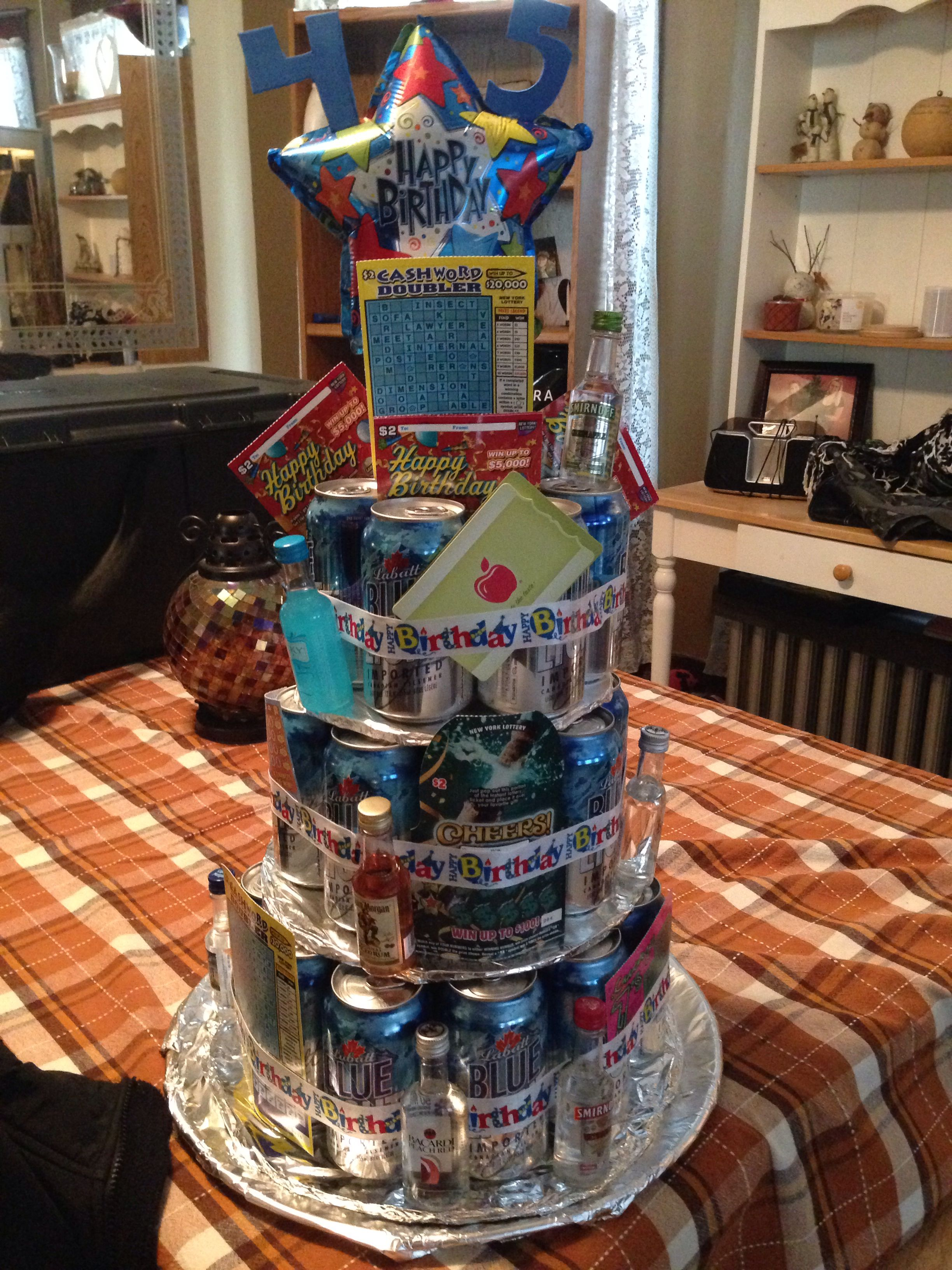 Beer Cake Tower Own Creations Cake Tower Alcohol Cake