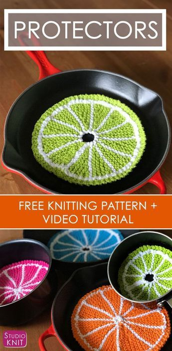 How To Knit Fruit Citrus Slices With Free Pattern Video Crafty