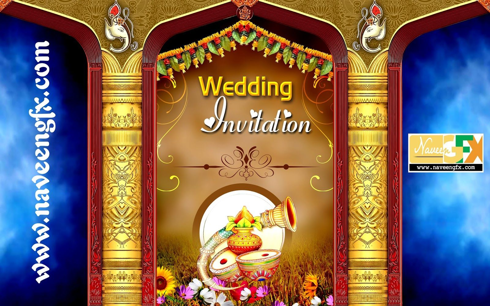 wedding invitation card format marathi wording%0A indianweddingbannerpsdtemplatefreedownload