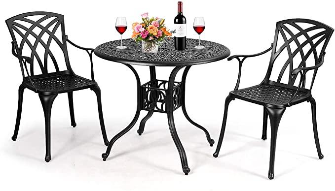chairs cast aluminum patio table