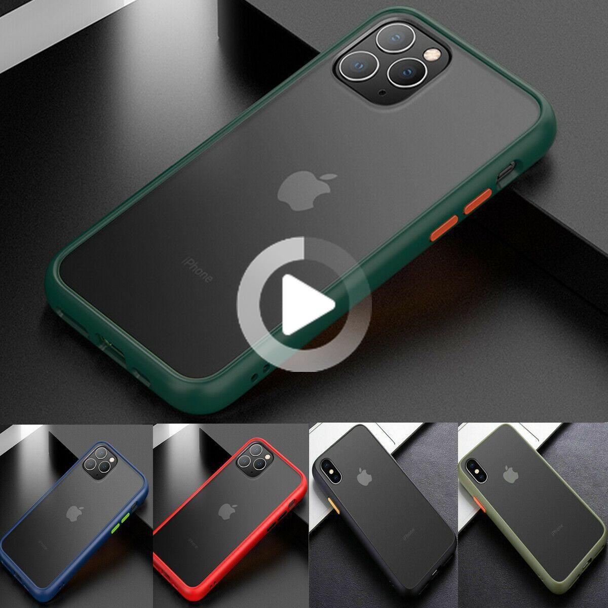 F iphone 11 pro max 8 plus xs max xr se2 bumper cute matte