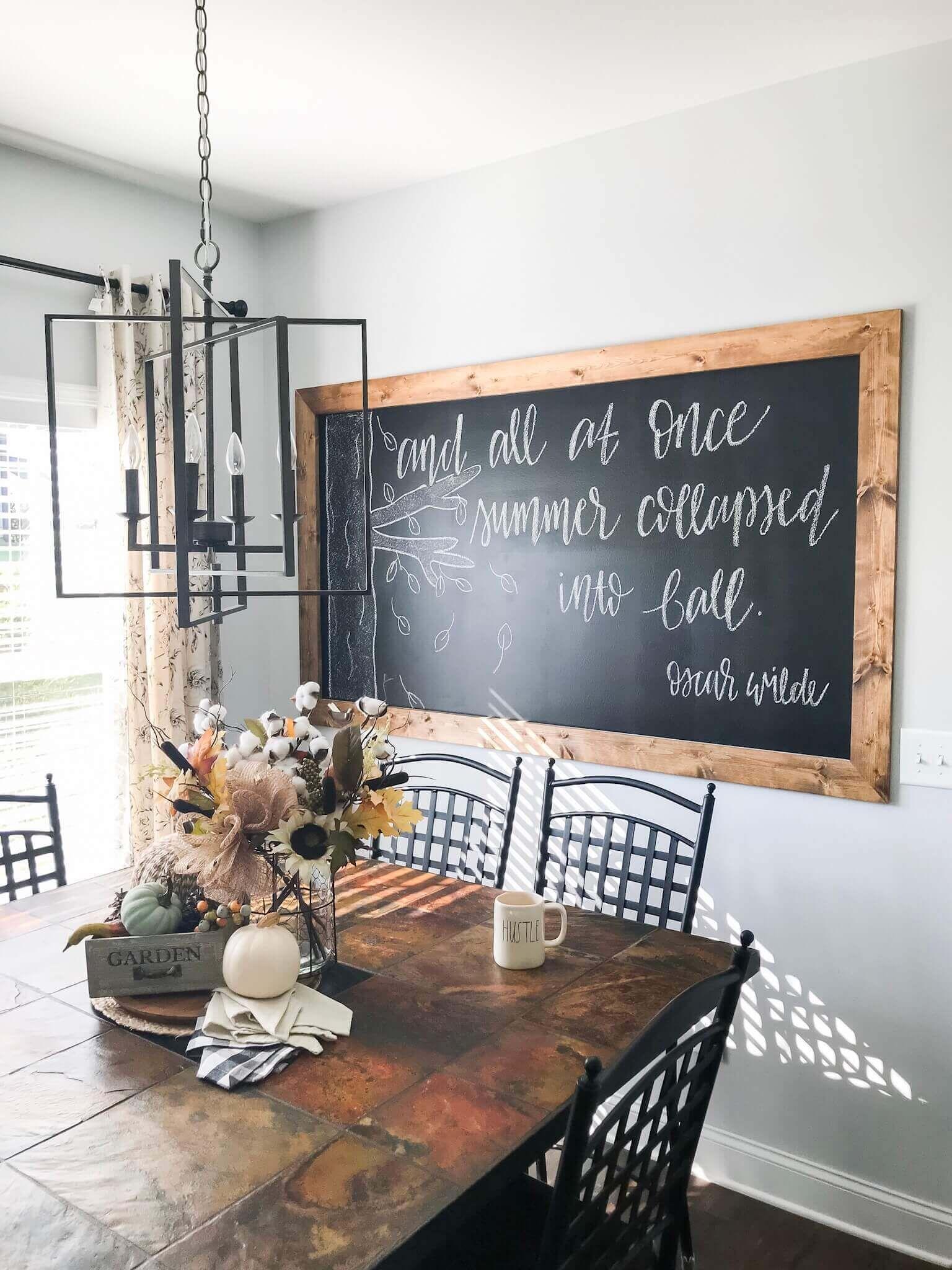 Diy framed chalkboard wall tutorial framed chalkboard