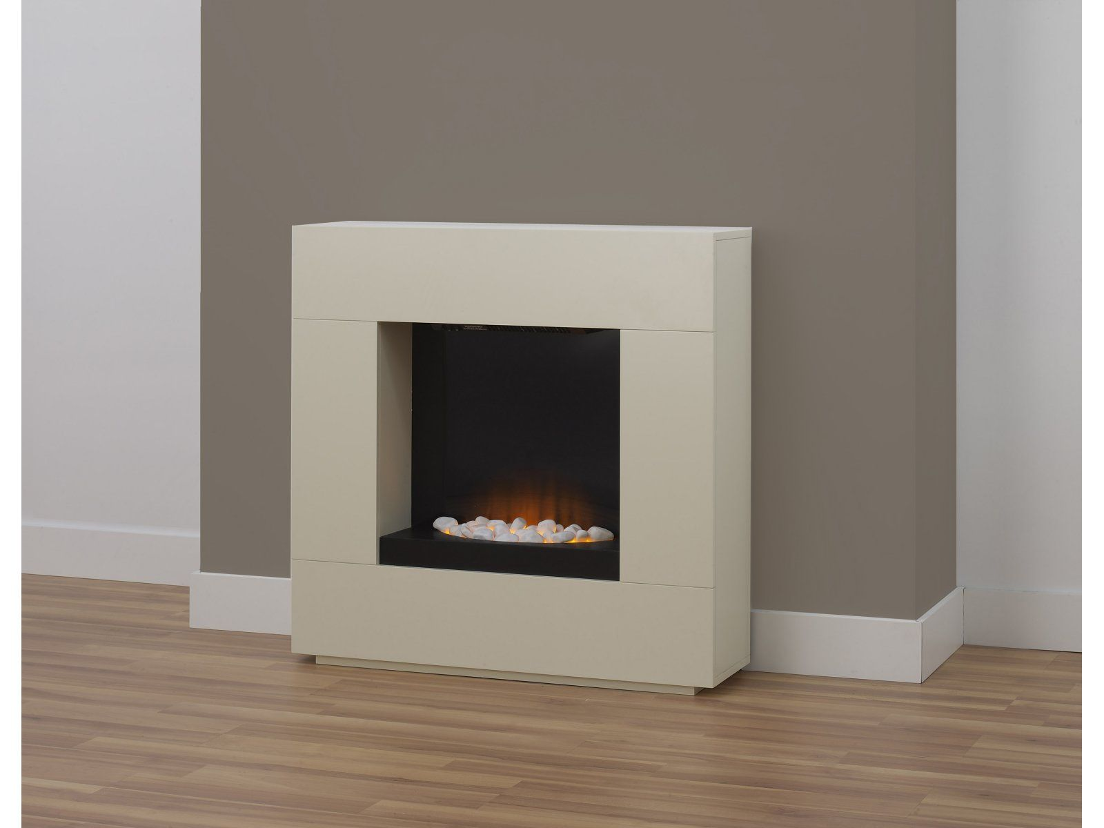 adam alton fireplace suite in cream with electric fire 36 inch