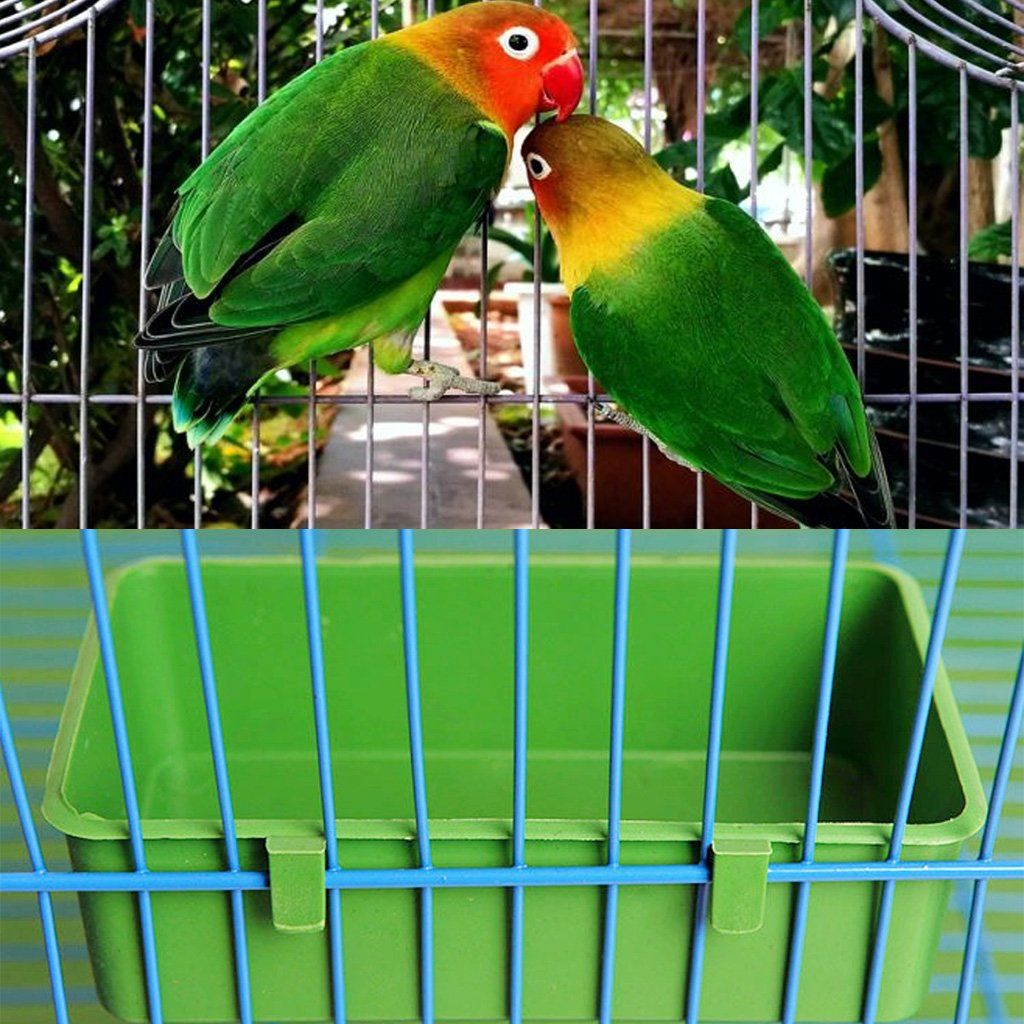 Oranmay Food Water Plastic Bowl Cups Parrot Bathing Bird Pigeons Cage Sand Cup Feeding Bowl Cups Parrot Plastic Ad オウム ボウル 鳥
