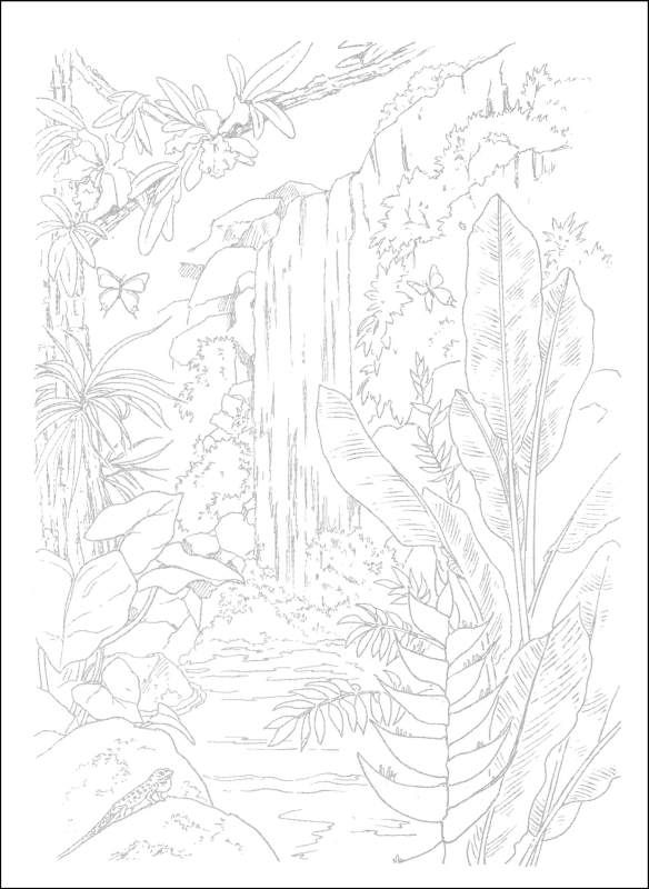 Tropical Paradise Scenes To Paint Or Color Additional