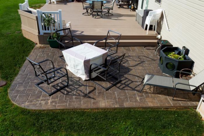 concrete patio ideas with hot tub Google Search Concrete patio