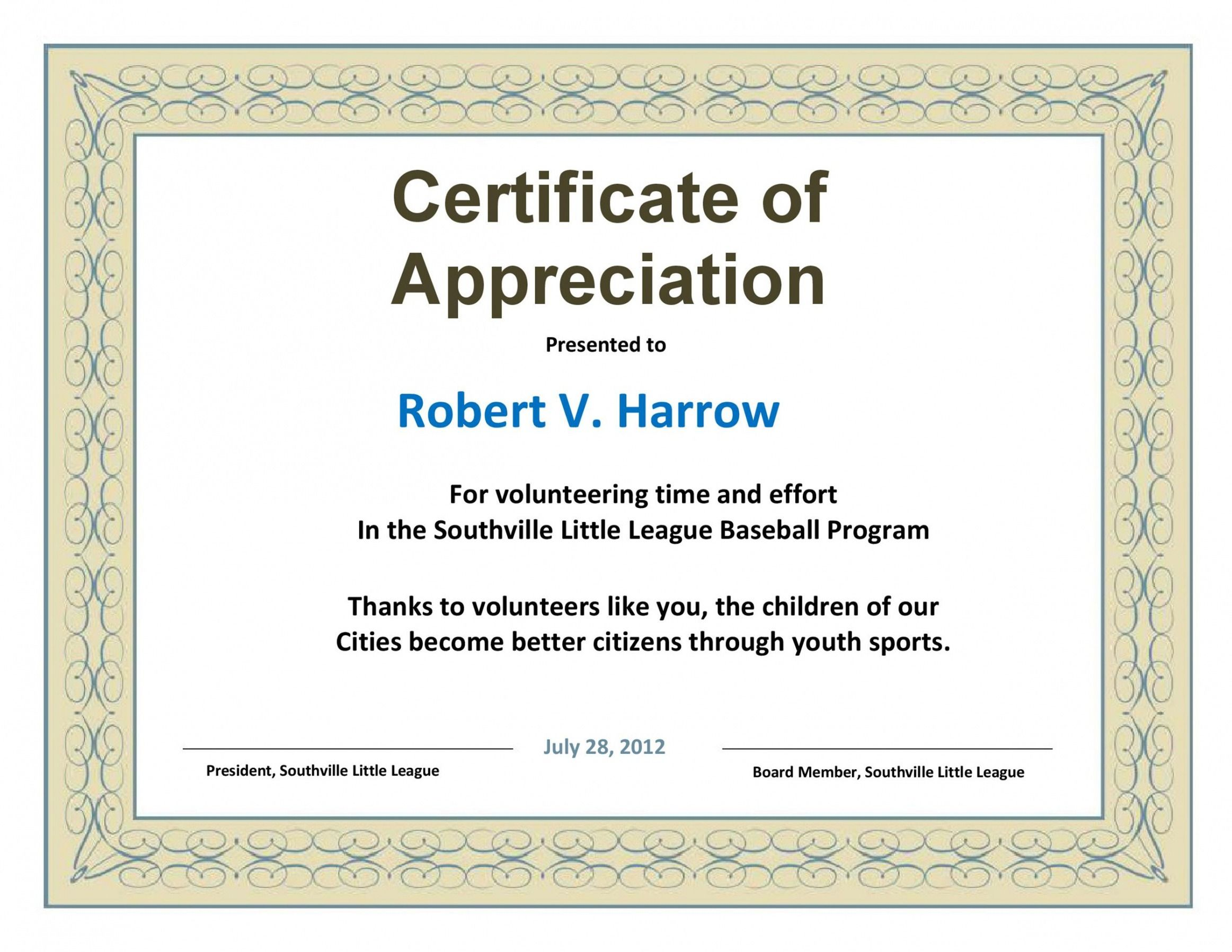 How To Make A Volunteer Recognition Certificate Template Excel In 2021 Certificate Of Appreciation Certificate Template Certificate Of Appreciation Templates