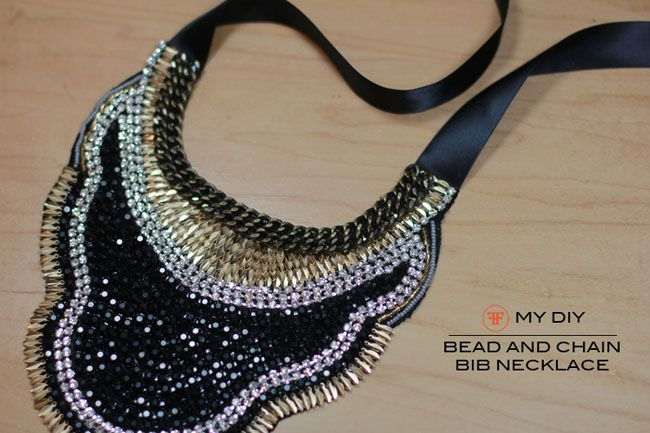 DIY Bead and Chain Bib Necklace Frugal-nomics - The Art of Resourceful Living. - Part 13