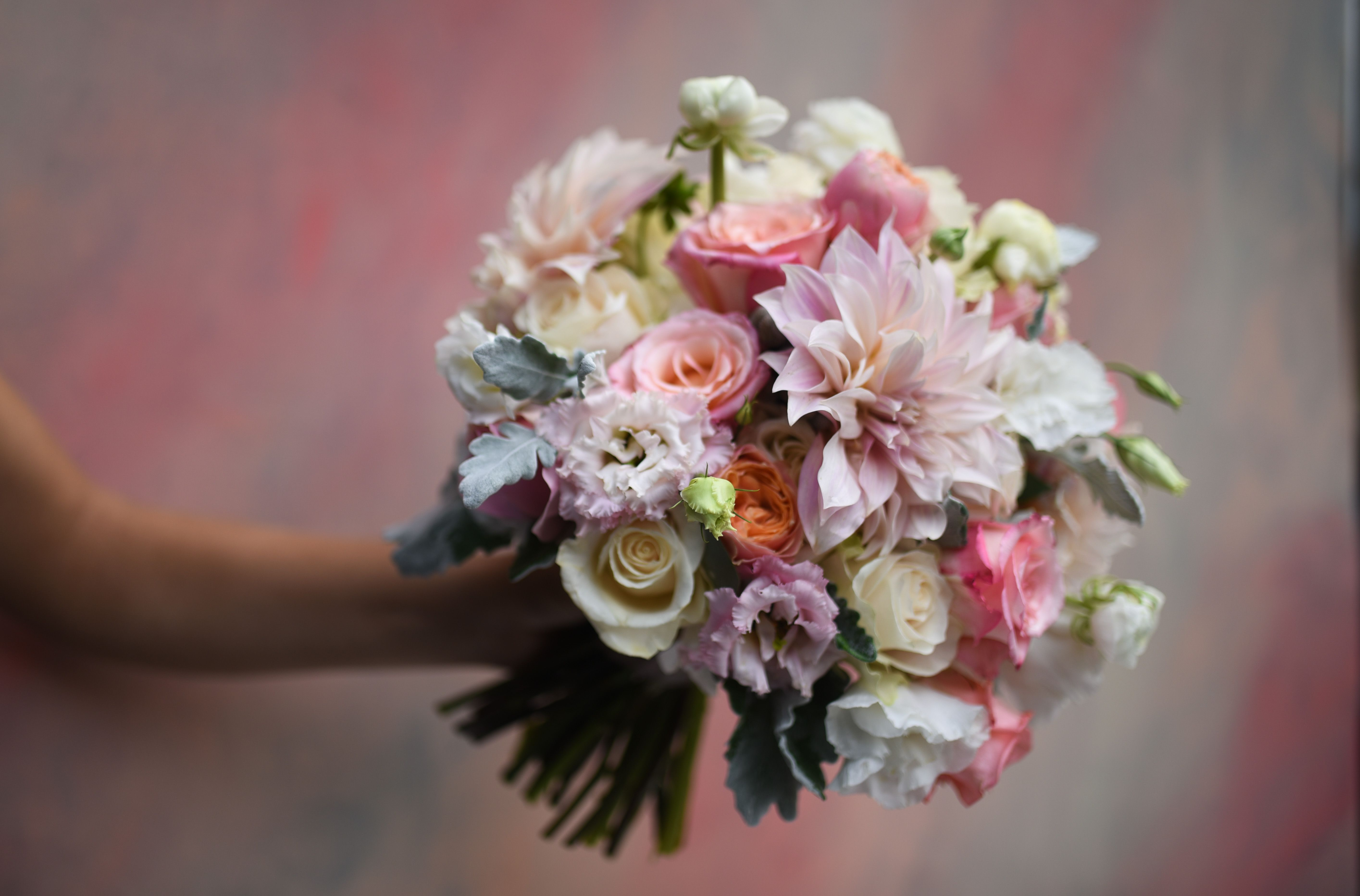 Pale tones bouquet for Michelle Wedding at My Moon in