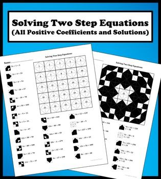 Ionic Compounds Worksheet Pdf This Worksheet Contains  Problems On Solving Two Step Equations  Pirate Worksheets Ks1 Pdf with Year 2 Worksheets Free Solving Two Step Equations All Positive Coefficientsolutions Color  Worksheet Year 5 Math Worksheets Word