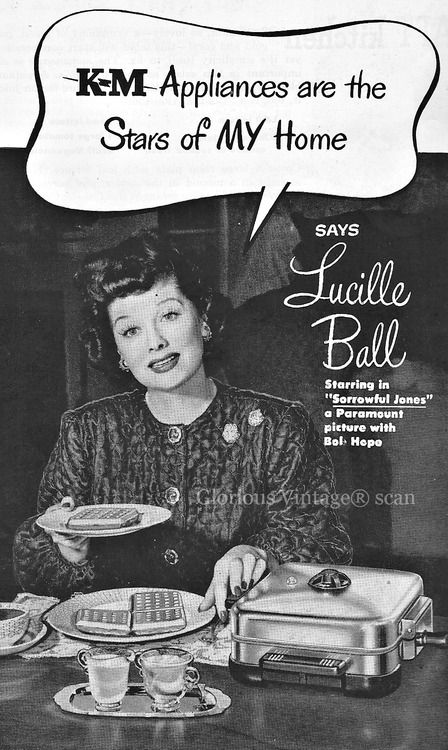 Vintage KM Appliances Ad ~ Lucille Ball