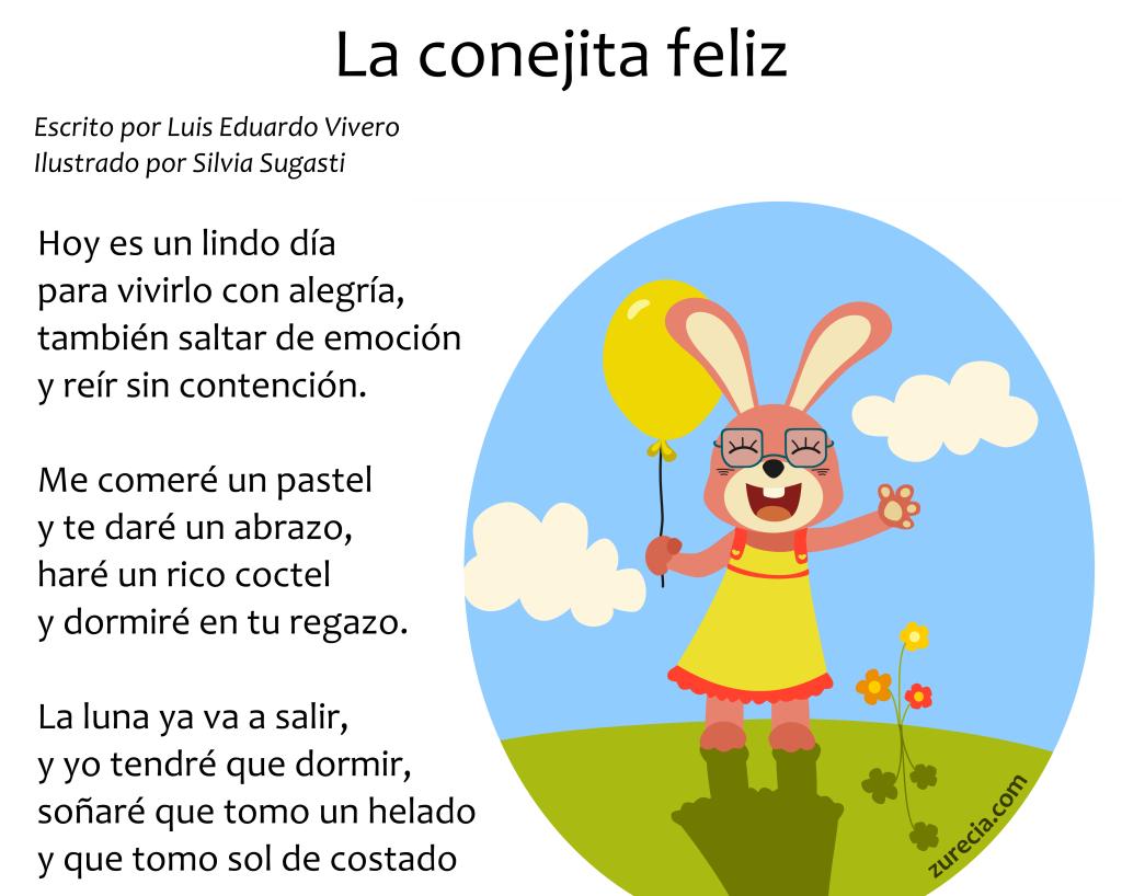 Poema infantil: La conejita feliz (con imágenes) | Poemas