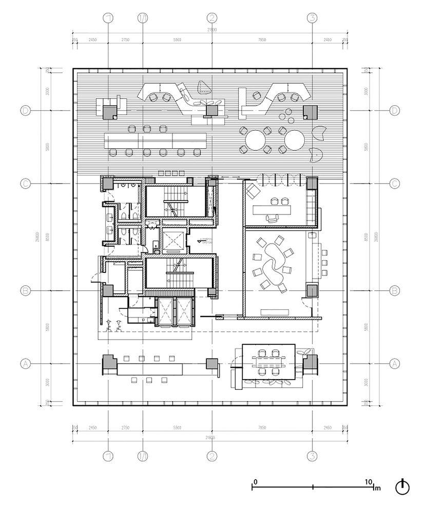 Gallery Of Tianzhu Marketing Center Tsushima Design Studio 16 Studio Floor Plans Office Floor Plan Office Layout Plan