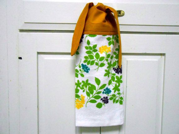 Kitchen Hand Towel Towel With Ties Hanging Towel Dish By AkornShop, $5.95