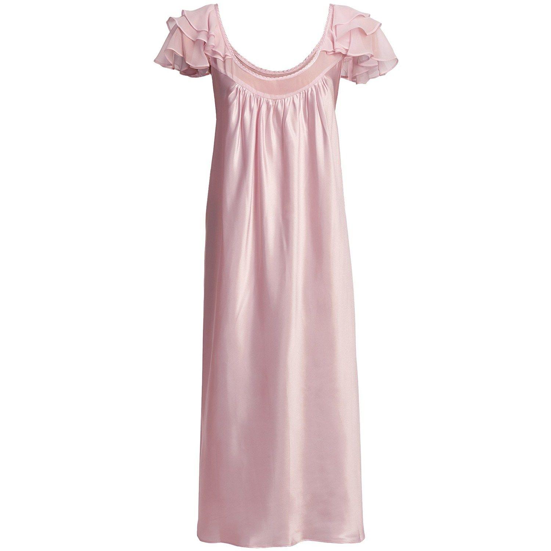 Oscar de la Renta Pink Label Romantic Dreams Nightgown - Short Sleeve (For  Plus Size Women) in Pink Wisteria 808a0ee80
