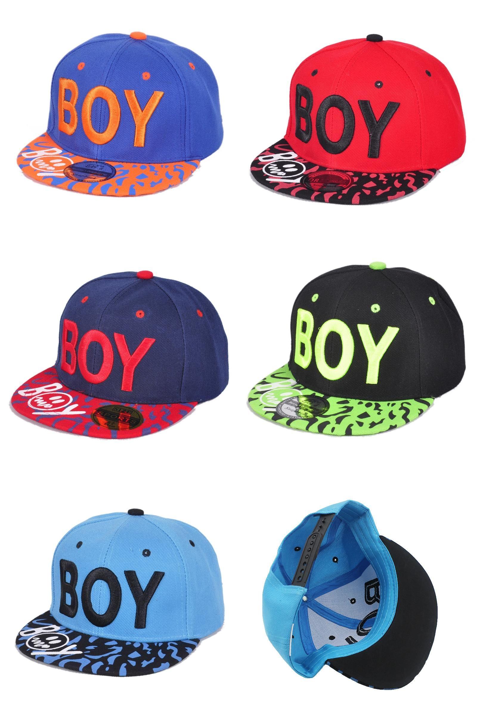 Toddler Boys Girl Baseball Cap Letter Embroidery Casual Hip Hop Sun Snapback Cap