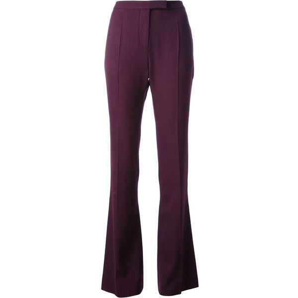 GIVENCHY flared trouser (32.280 RUB) ❤ liked on Polyvore featuring pants, zipper pants, flared pants, flared trousers, high-waisted trousers and givenchy pants