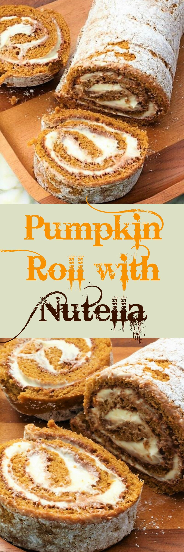 Pumpkin Roll With Nutella - My Recipe Treasures | Recipe ...