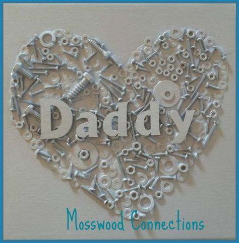 Upcycled Nuts and Bolts Heart Craft - Mosswood