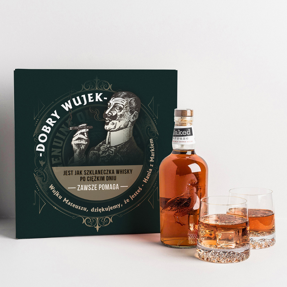 Whisky Ze Szklankami Prezent Dla Wujka Whisky Whiskey Bottle Bottle