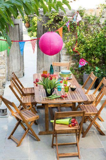 Deco terrasse exterieur mobilier de jardin et decoration pour la terrasse porches and patios for Meubles pour jardins et terrasses