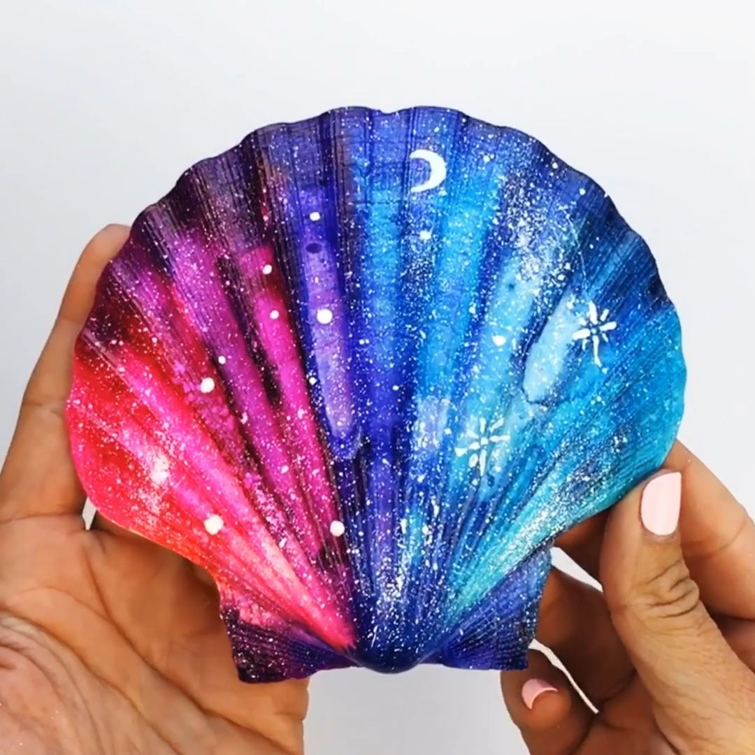 How to use Alcohol Inks on Shells #alcoholinkcrafts