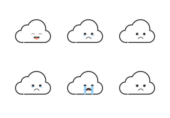 Cloud Emojis Icons By Lenna Erespe Cloud Emoji Emoji Cute Icons