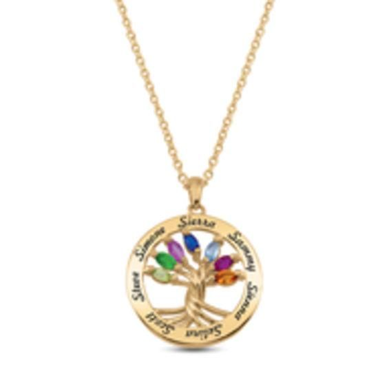 Zales Mothers Birthstone Ring Charm with Round Disc Pendant (1 Stone and Name) 5sDM6la