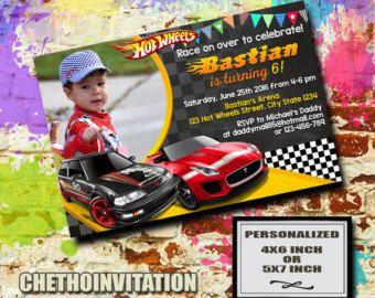 Hot Wheels Personalized Invitations Southernsoulblog Com