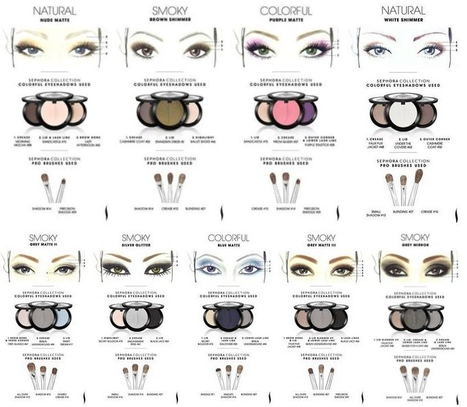Sephora Makeup Templates Of Eyeshadow Sephora Makeup Sephora - Eyeshadow template