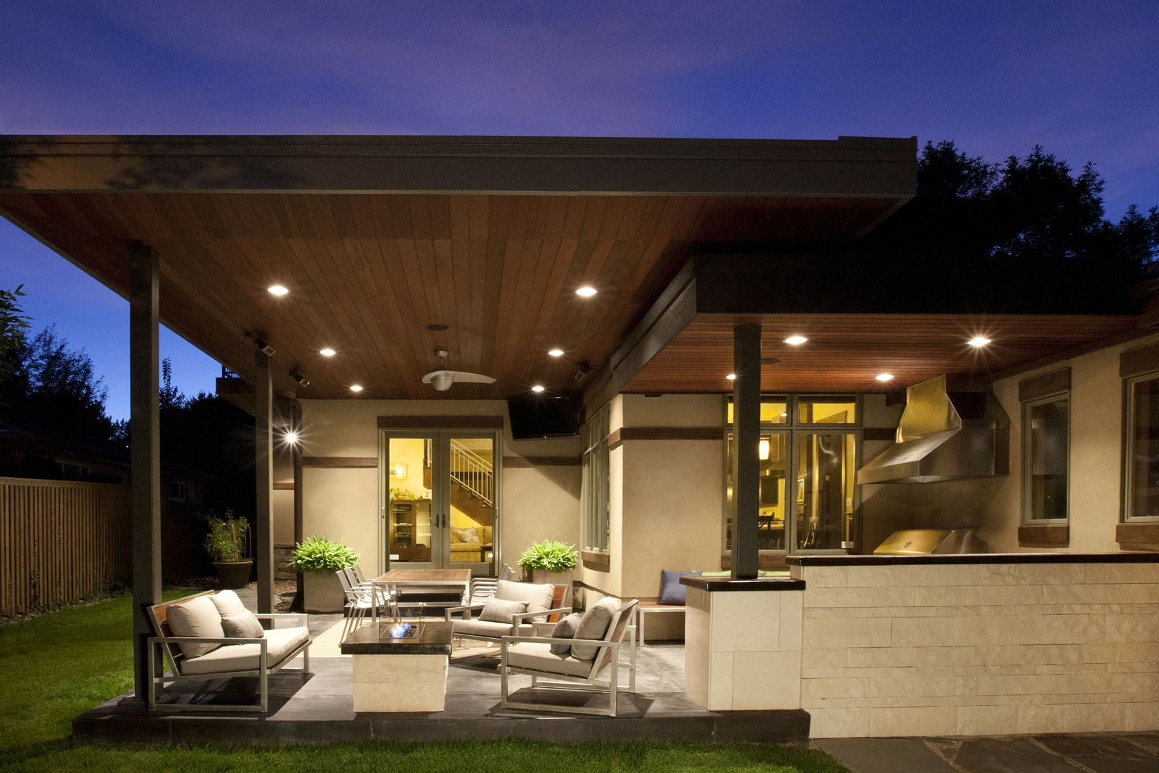 Adition Decoration Outdoor Living Areas Modern Patio With Wood Covers Design Ideas Lighting And Furniture Tips