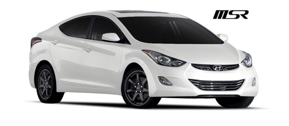 Carid 2013 White Hyundai Elantra Gls Msr Wheels 013 Black Hyundai Elantra Hyundai Elantra