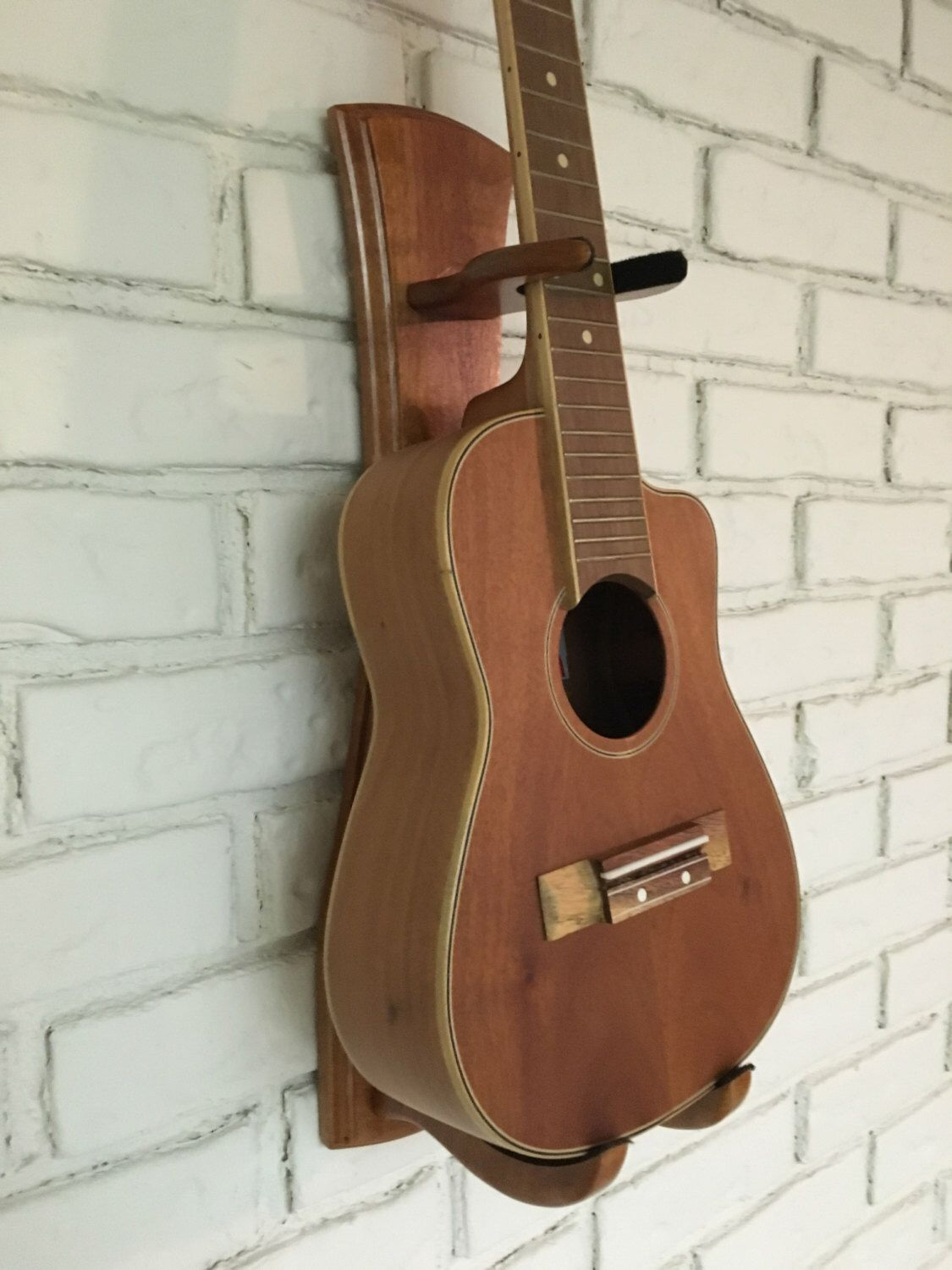 Mahogany Ukulele Wall Mount By Bordignonguitars On Etsy