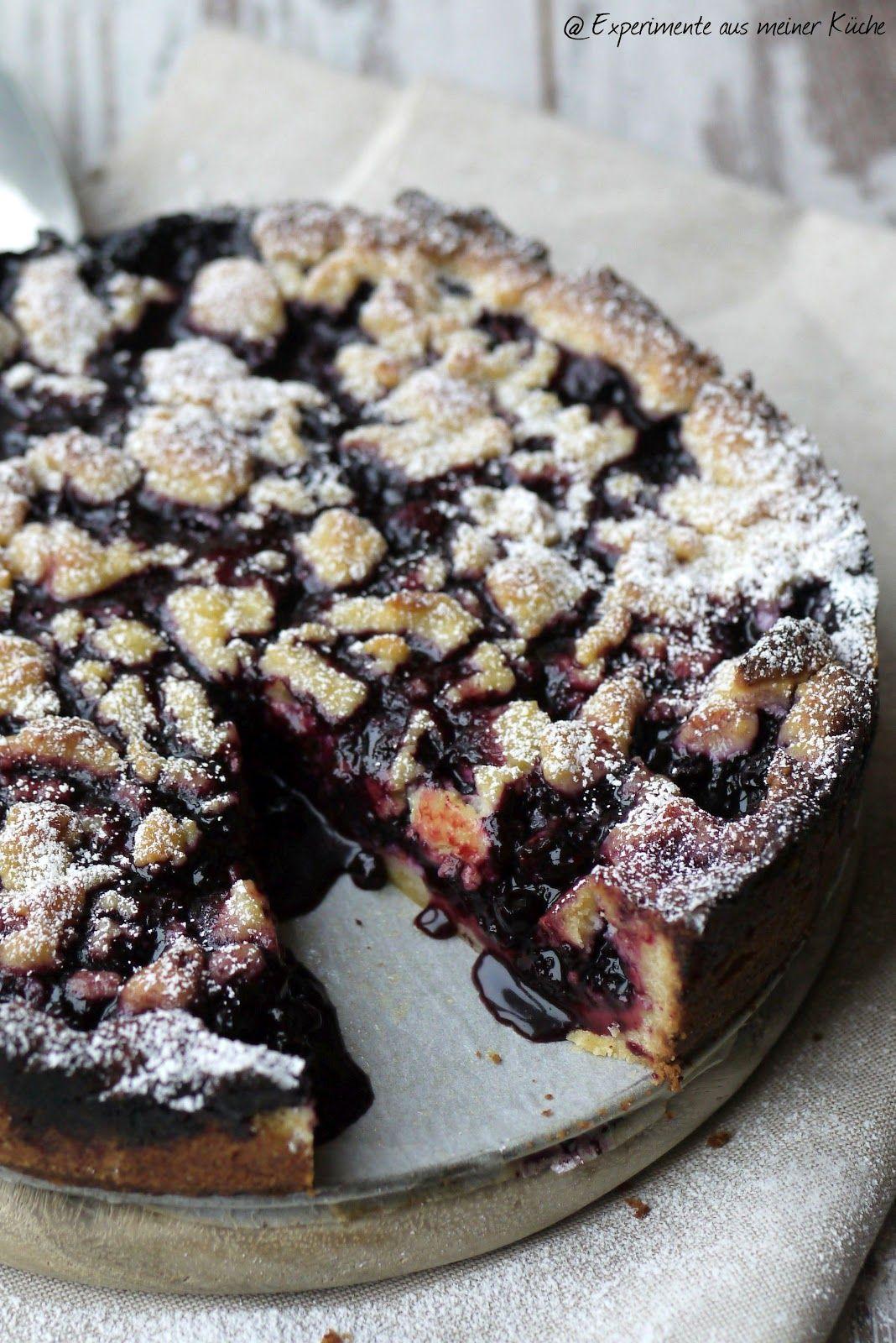 Experimente aus meiner Küche: Heidelbeer-Marzipan-Streuselkuchen