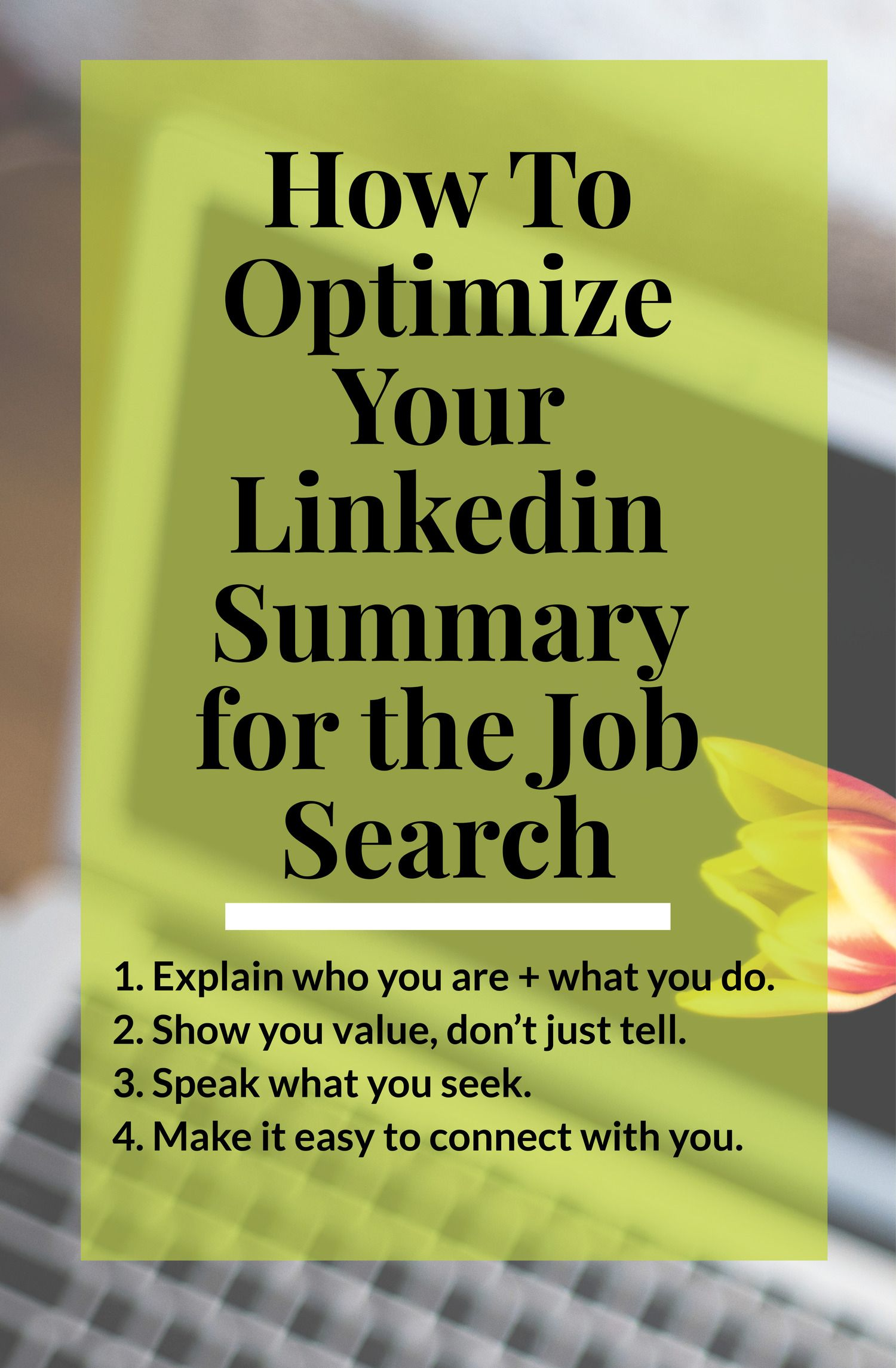 How to Optimize Your Linkedin Summary Linkedin tips