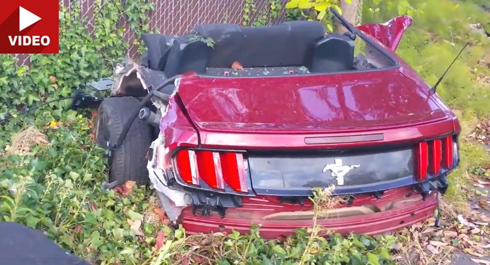 Rented Ford Mustang Splits In Two After Washington Crash Mustang