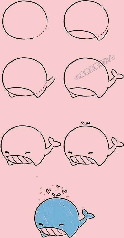 den Wal etappenweise zu zeichnen - - -Wie den Wal etappenweise zu zeichnen - - -  Are you looking f