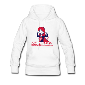 Super Mama hoodie #Spreadshirt #Tekenaartje #SOLD #mothersday #moederdag #mother #moeder