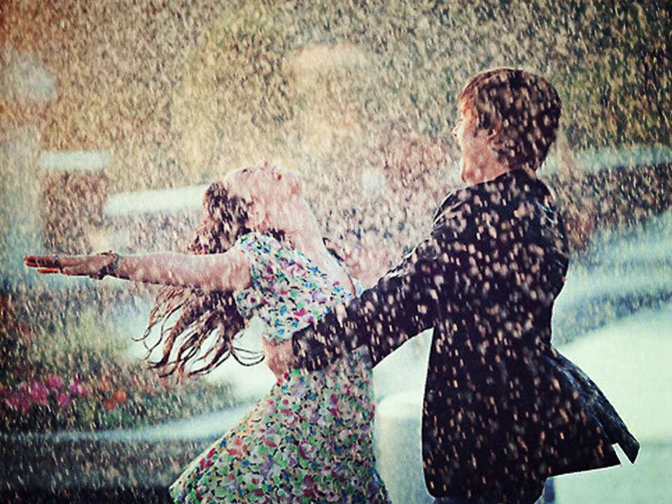 Lovely Imagen De Love, Rain, And Couple