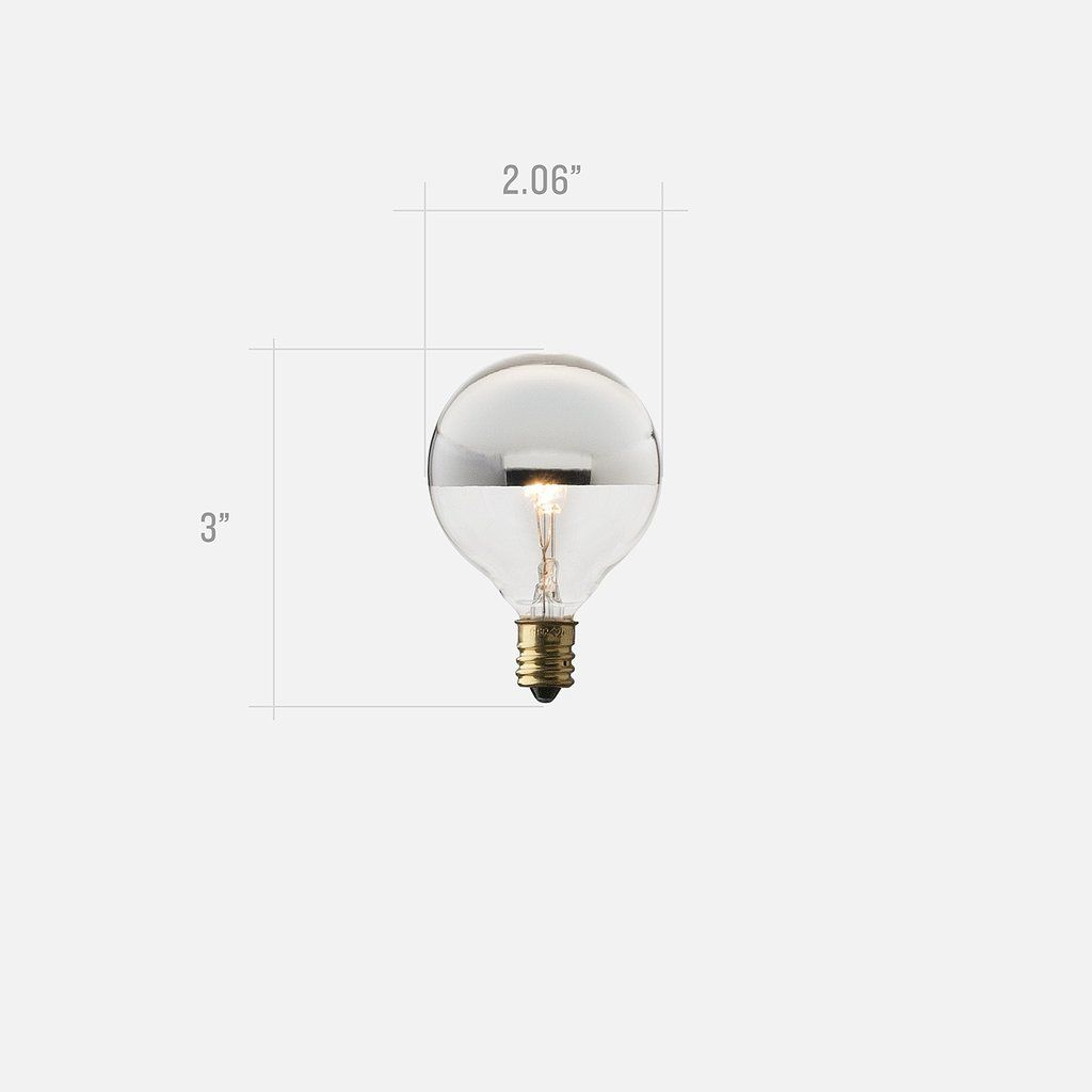 Candelabra Mini Silver Tip Bulb