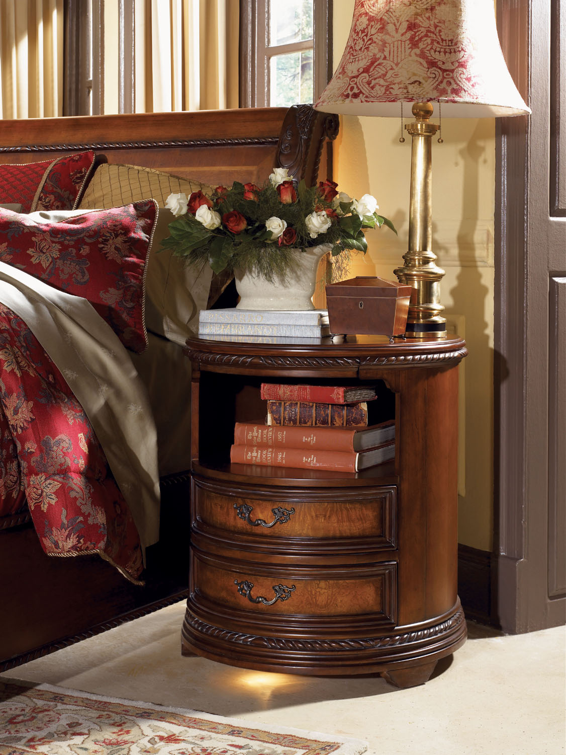 Napa round nightstand in cherry aspen home home gallery stores