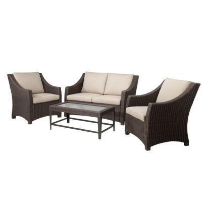 Target Home Belvedere 4 Piece Wicker Patio Conversation Furniture